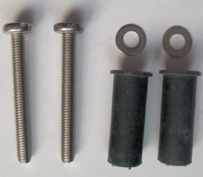 Easy Top Fix Hinge Replacement Bolt and Rubbers Set - 03065751